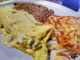 Mexican Omelette with Chile con Queso